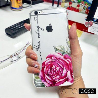 ốp lưng in tên với hoa hồng