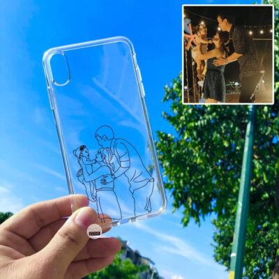 ốp lưng điện thoại in hình vẽ phác họa 9